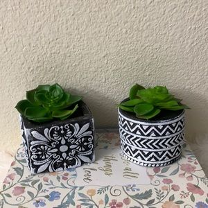 Boho succulent pots